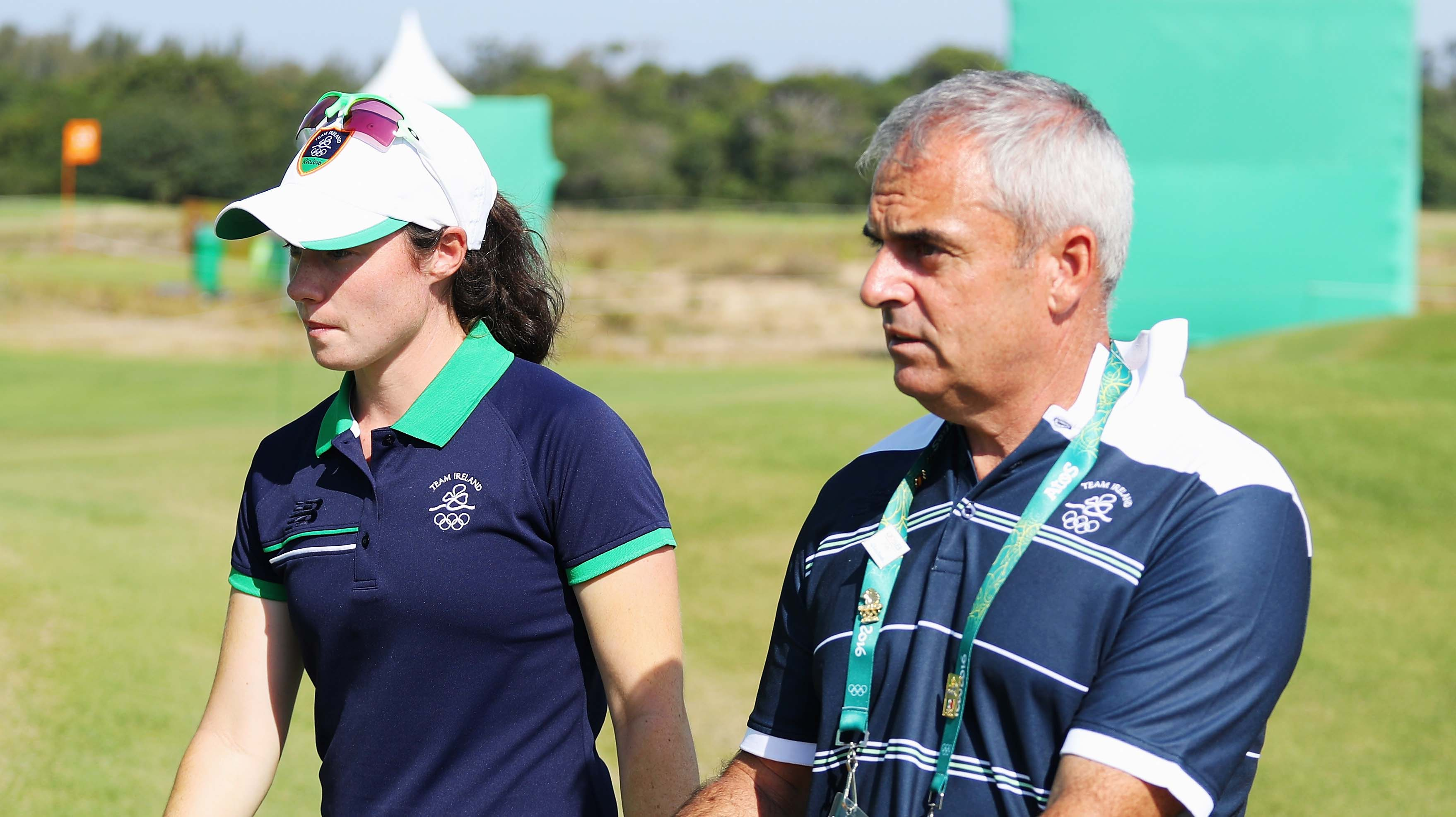 Leona Maguire and Paul McGinley