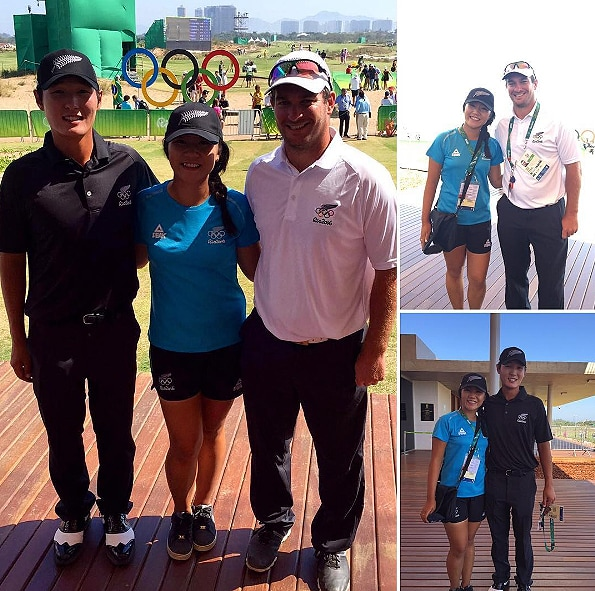 Lydia Ko, Danny Lee and Ryan Fox