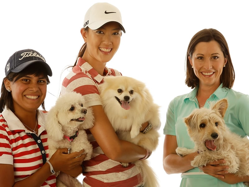 LPGA players and their pooches