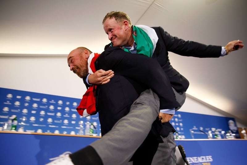Jamie Donaldson and Thomas Bjorn