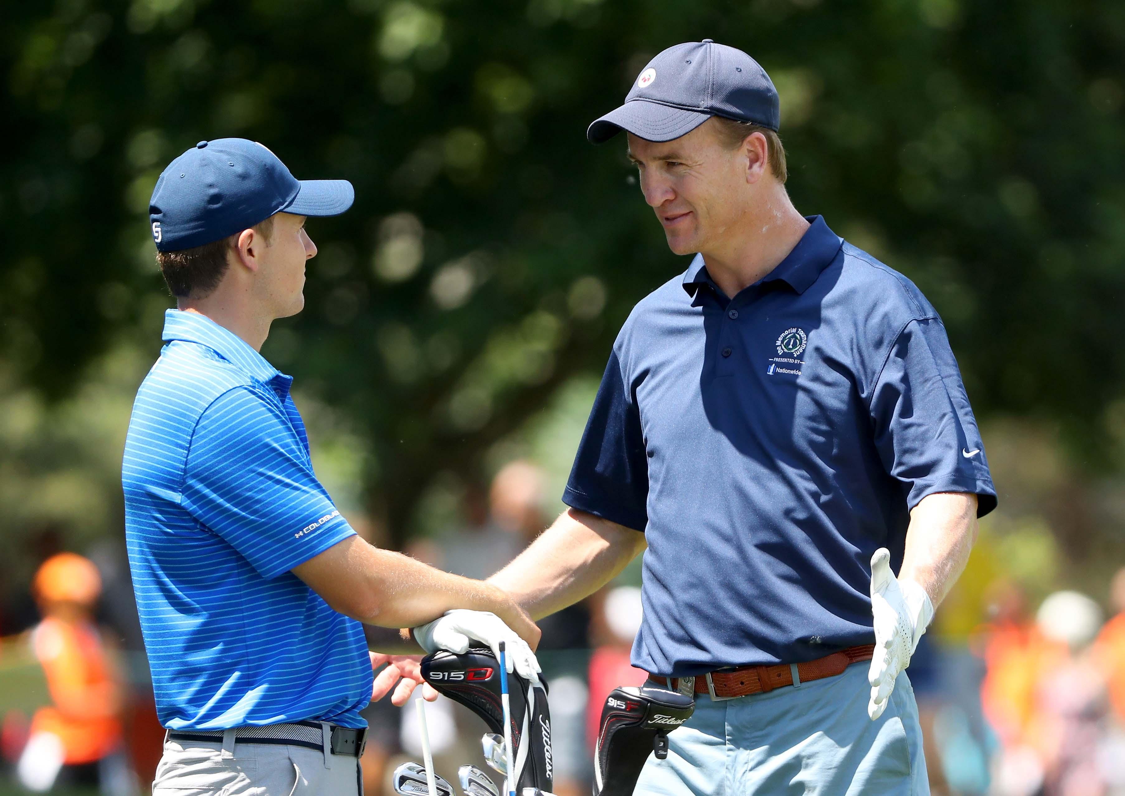 Jordan Spieth and Peyton Manning