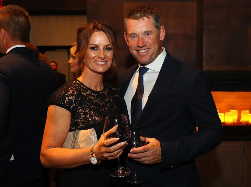 Helen Storey and Lee Westwood