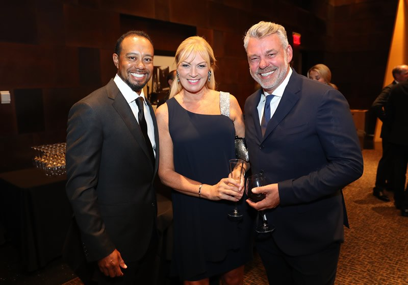 Tiger Woods; Alison and Darren Clarke