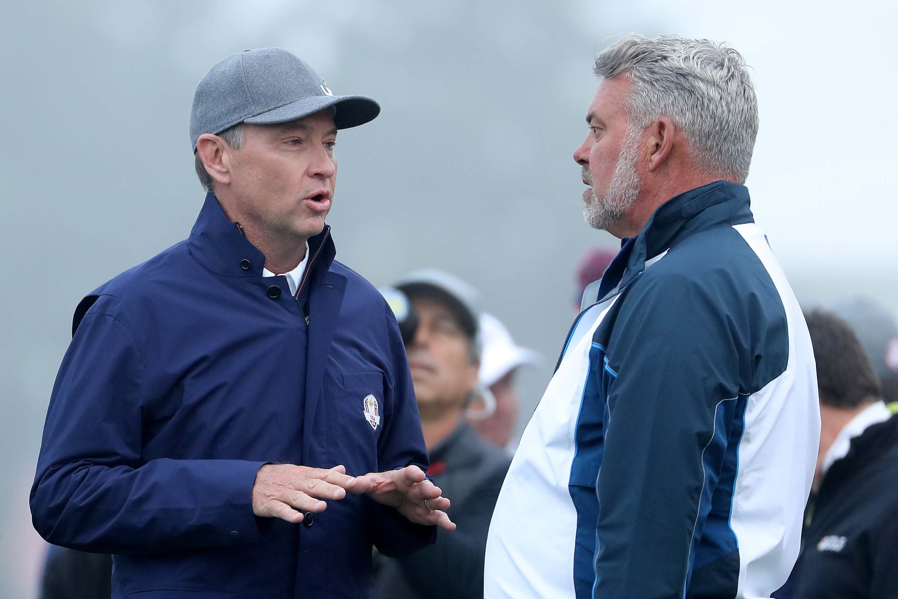 Davis Love III and Darren Clarke