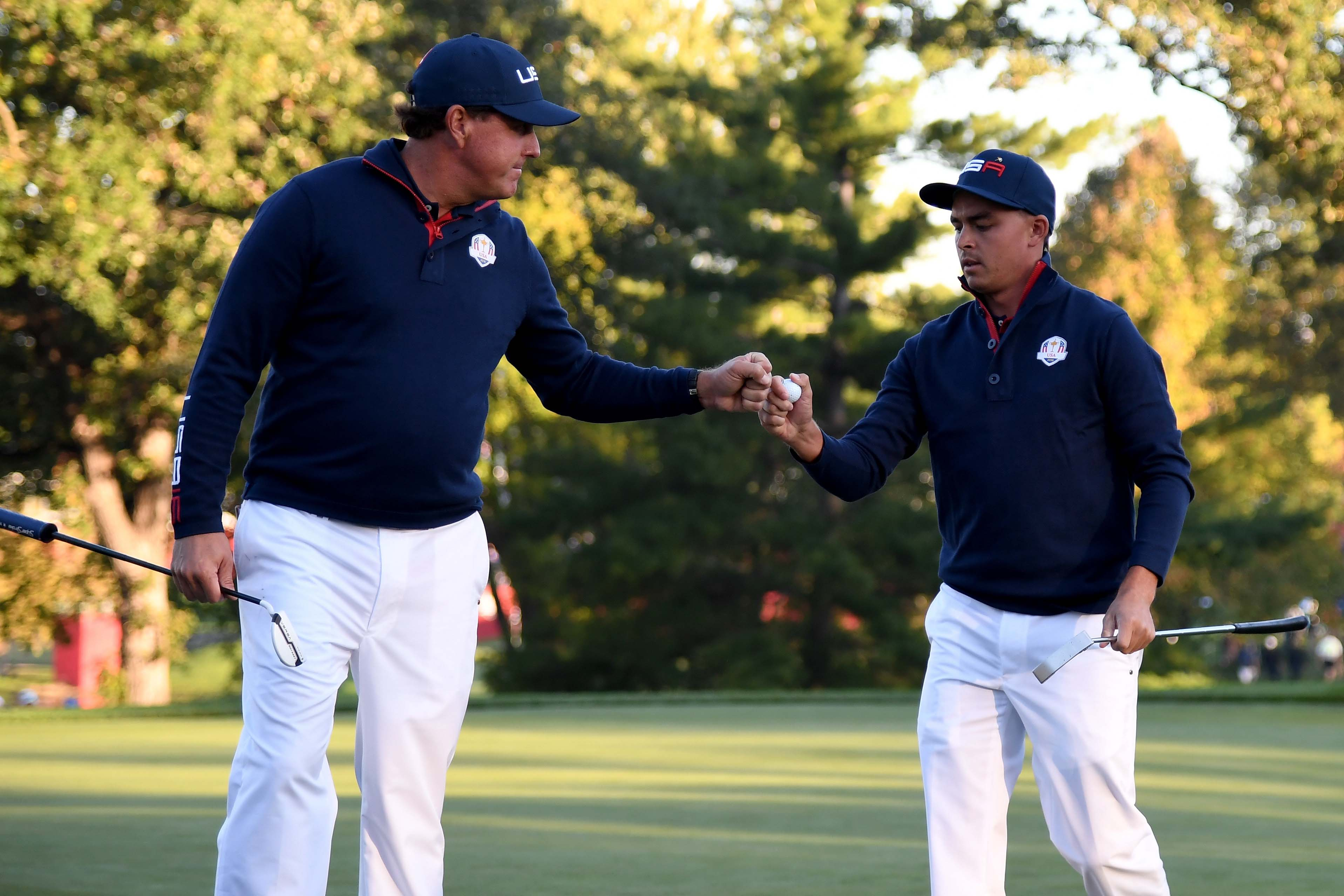 Phil Mickelson and Rickie Fowler