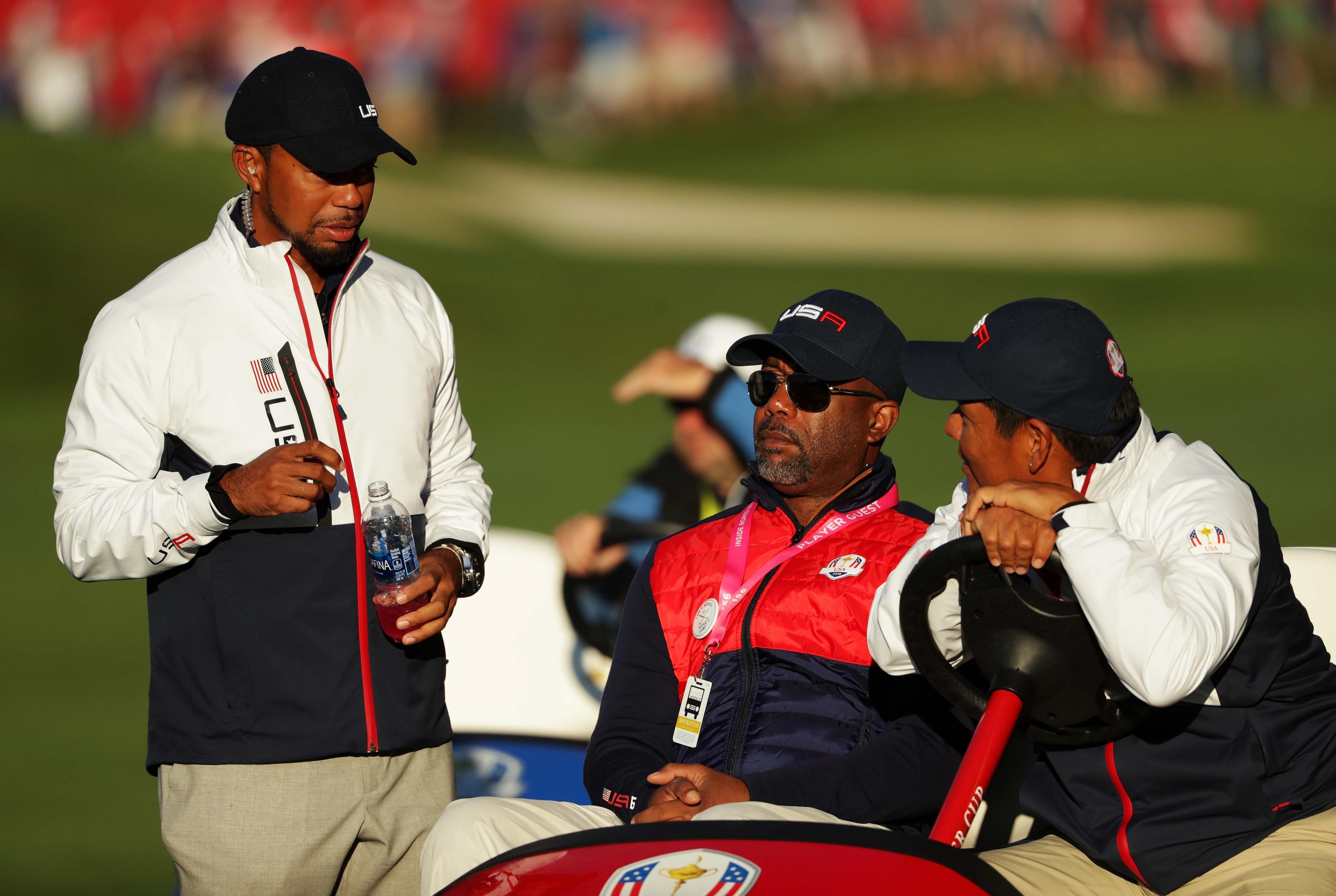 Tiger Woods, Darius Rucker and Notah Begay III
