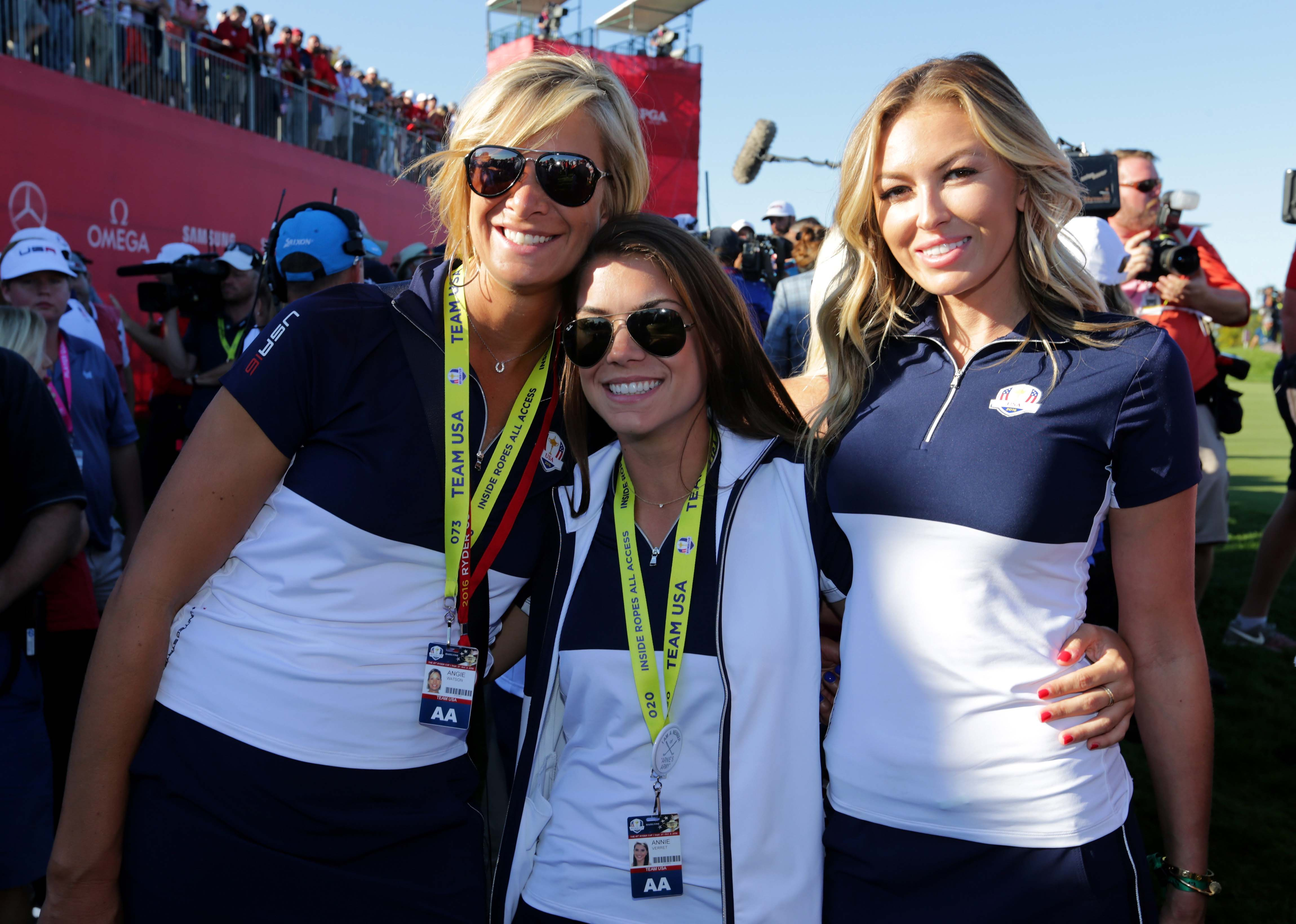 Angie Watson, Annie Verret and Paulina Gretzky