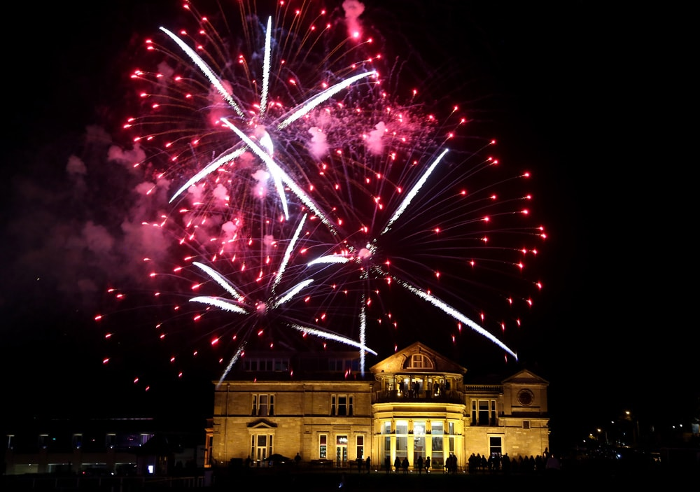 Old Course fireworks