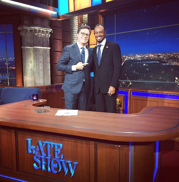Stephen Colbert and Tiger Woods