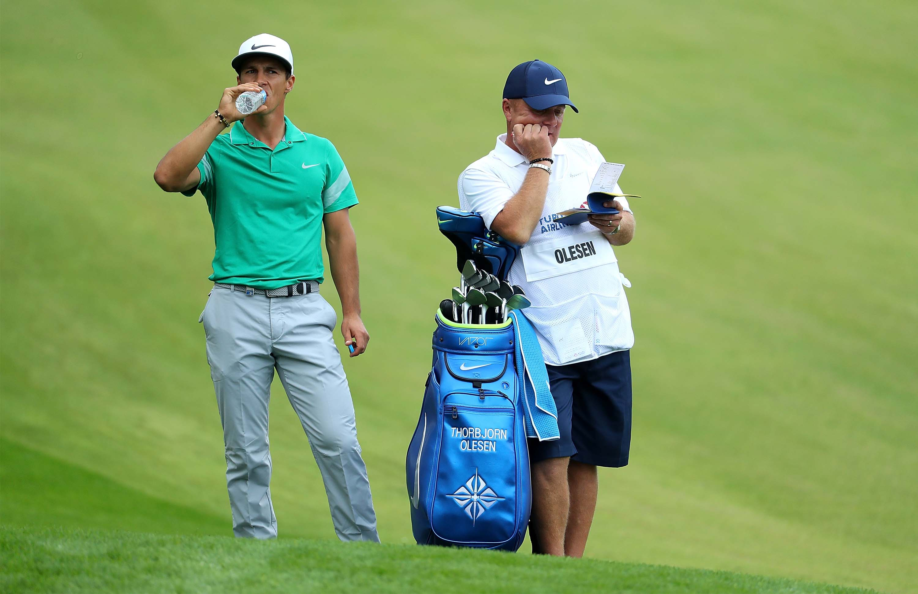 When even your caddie is bored ...