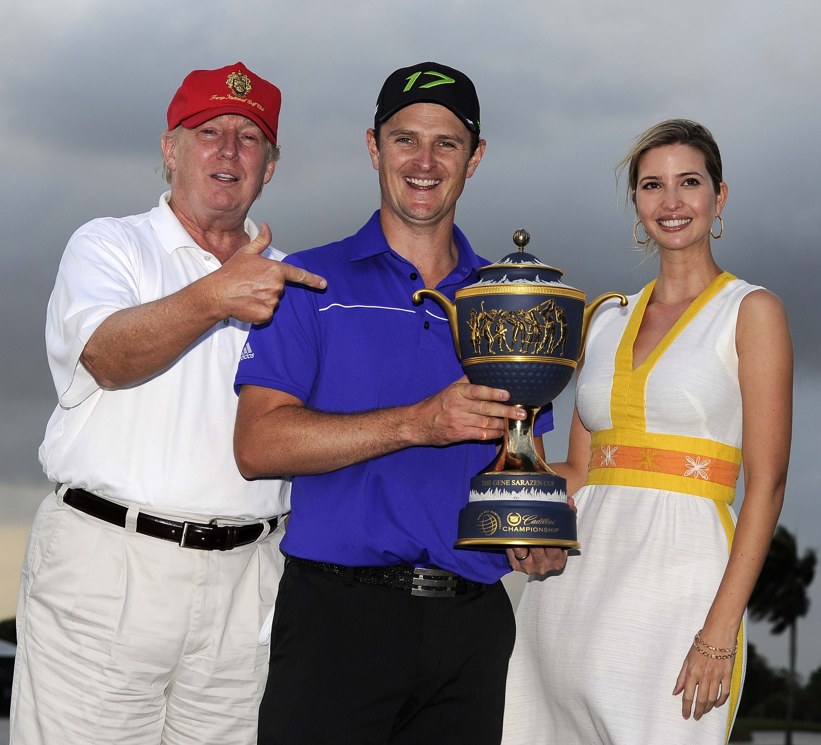 Justin Rose, Donald J. Trump and Ivanka Trump