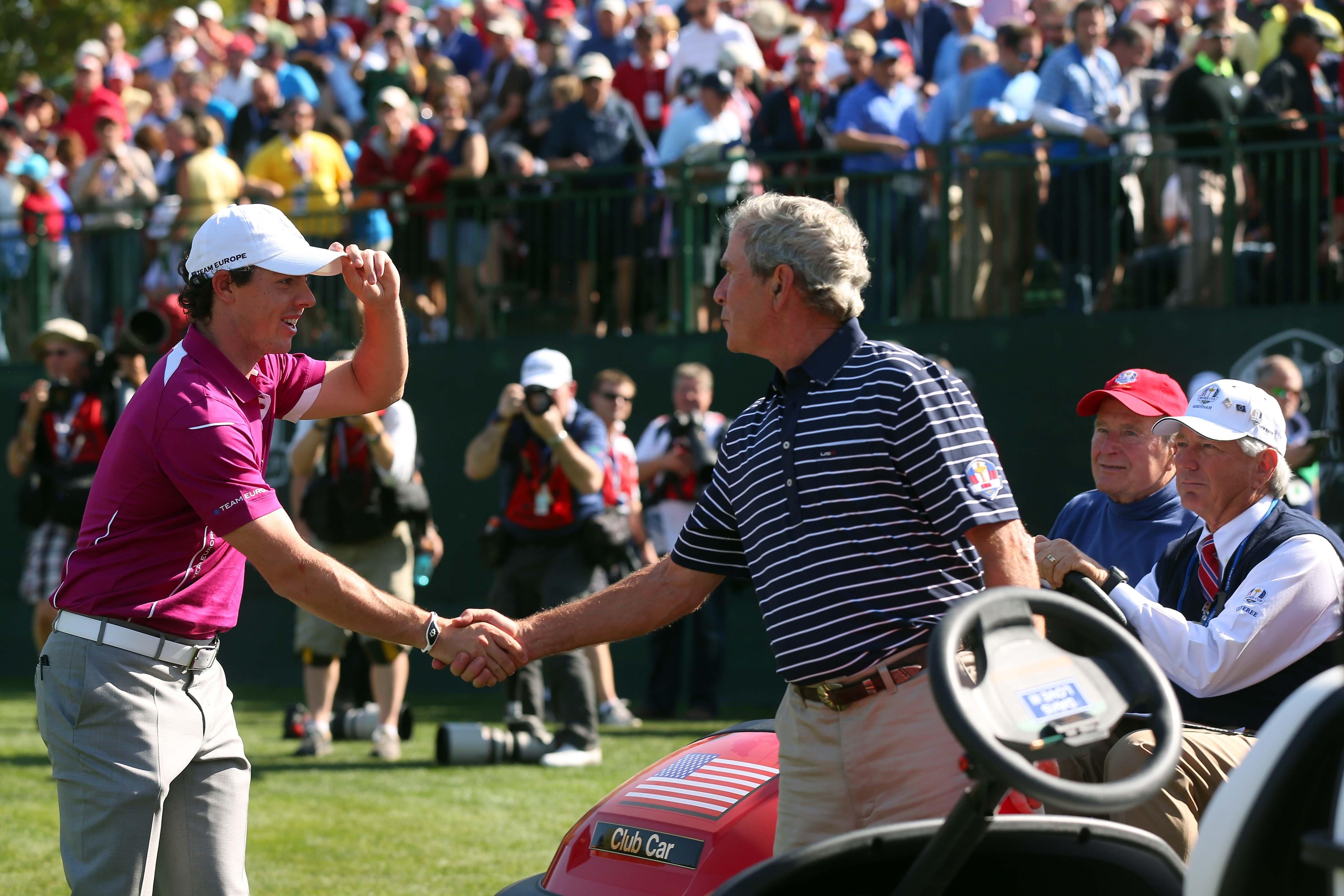 George W. Bush and Rory McIlroy