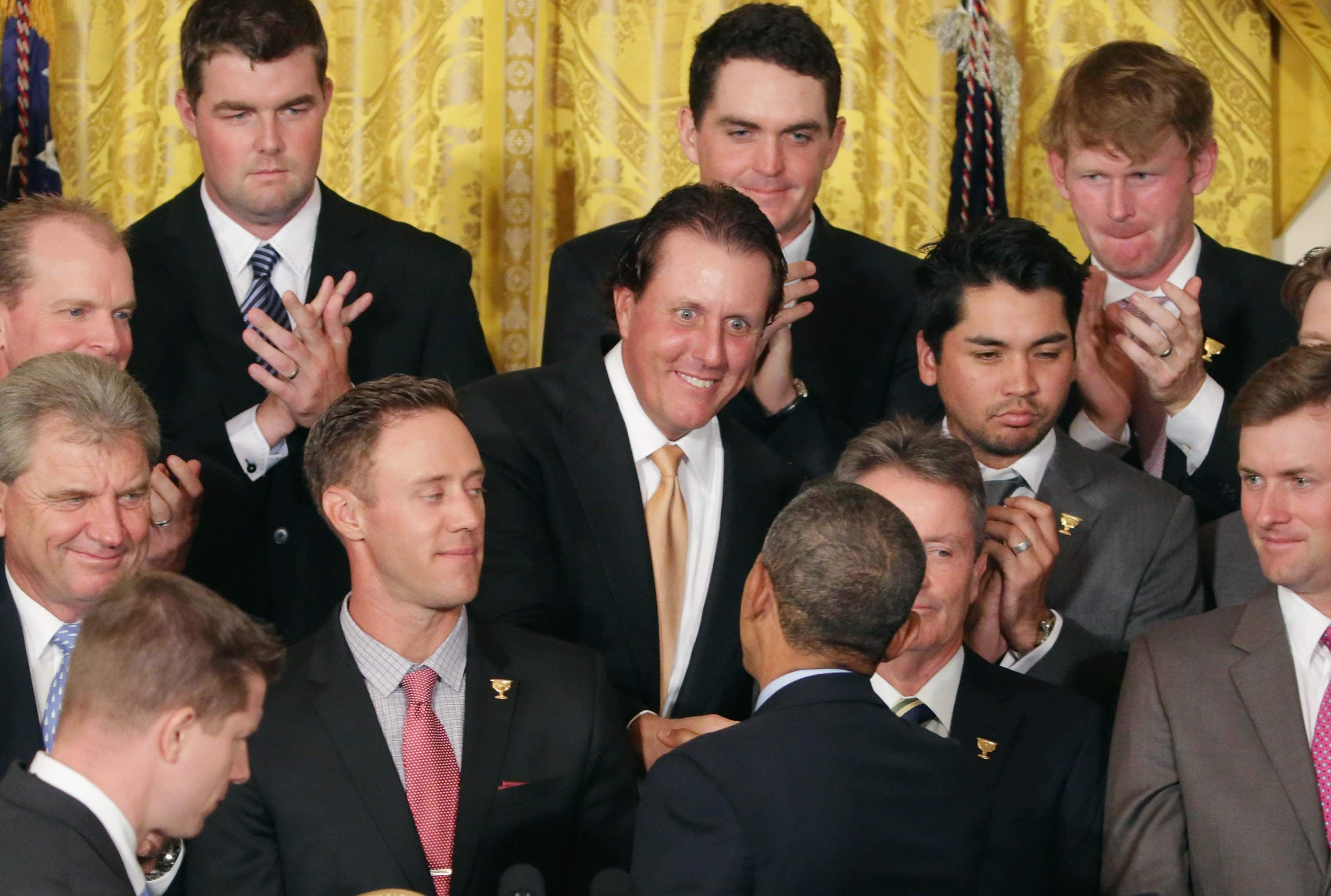 Barack Obama and Phil Mickelson