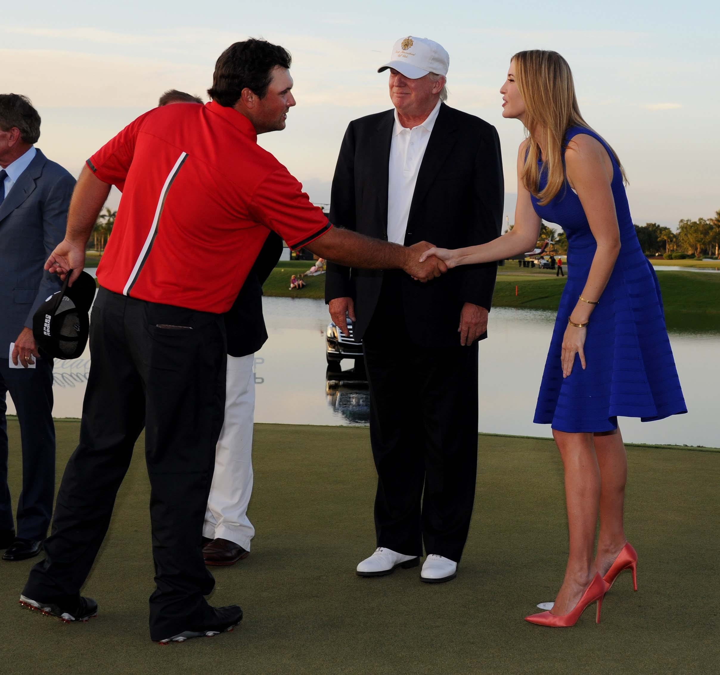 Patrick Reed, Donald Trump and Ivanka Trump
