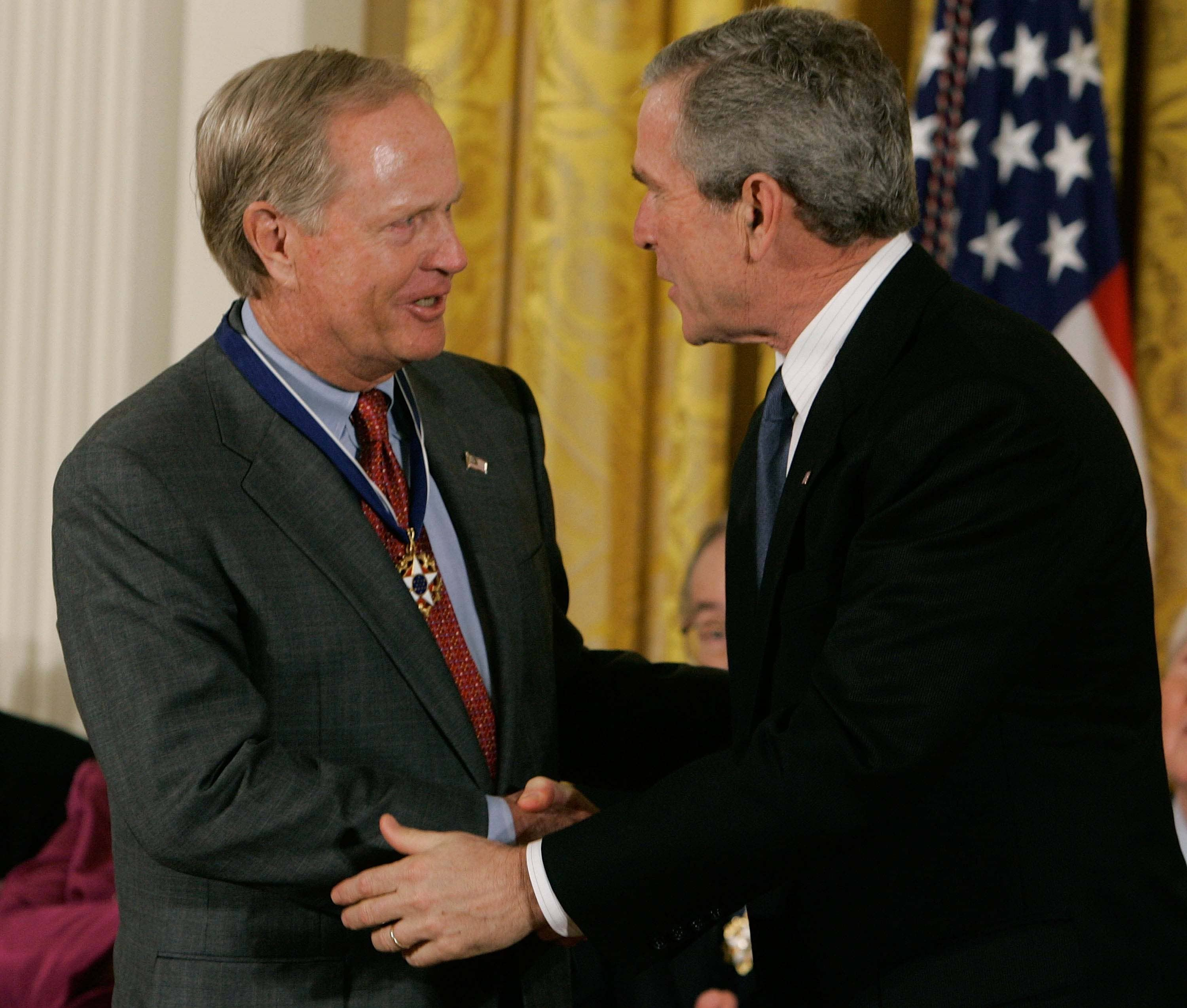 George W. Bush and Jack Nicklaus