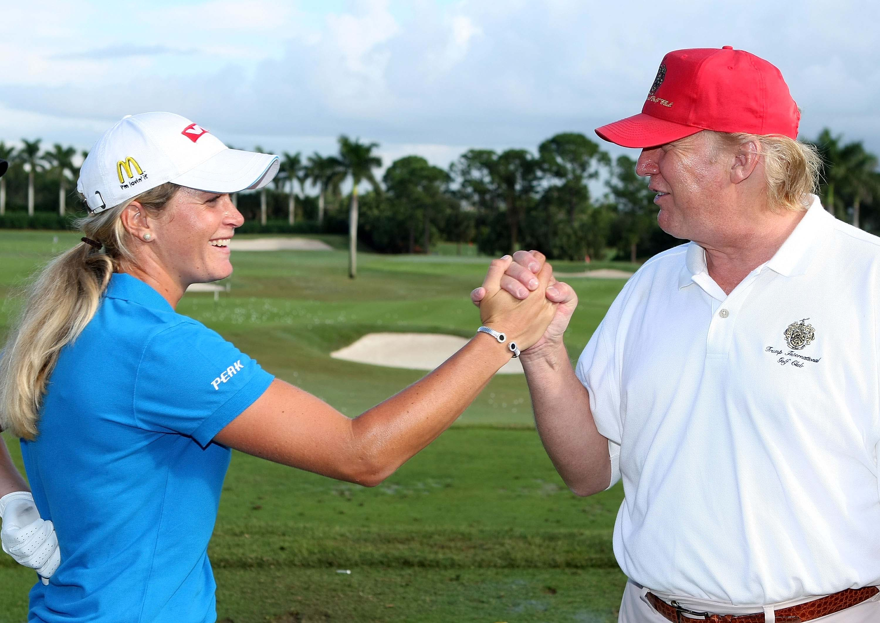 Suzann Pettersen and Donald Trump