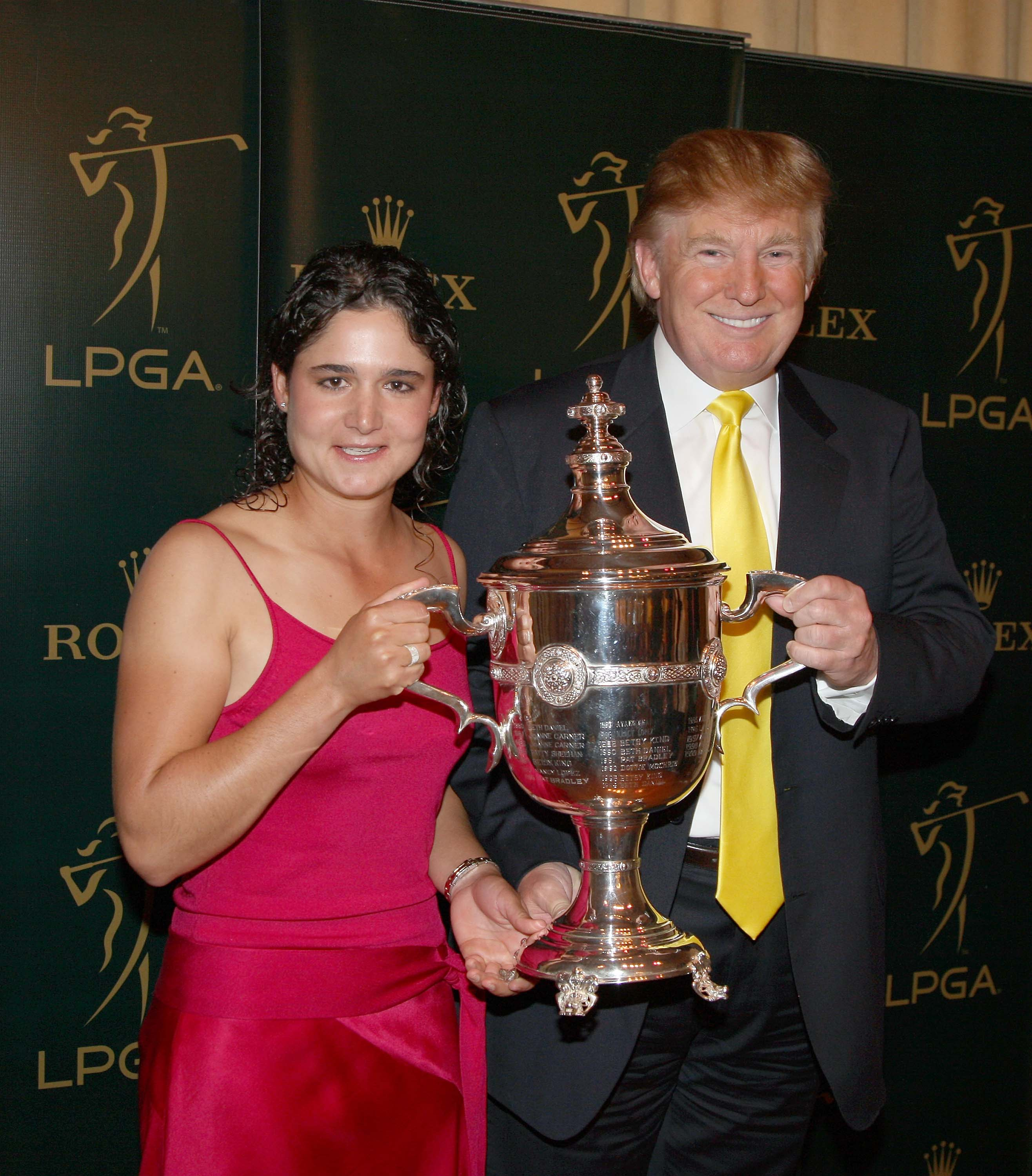 Lorena Ochoa and Donald Trump