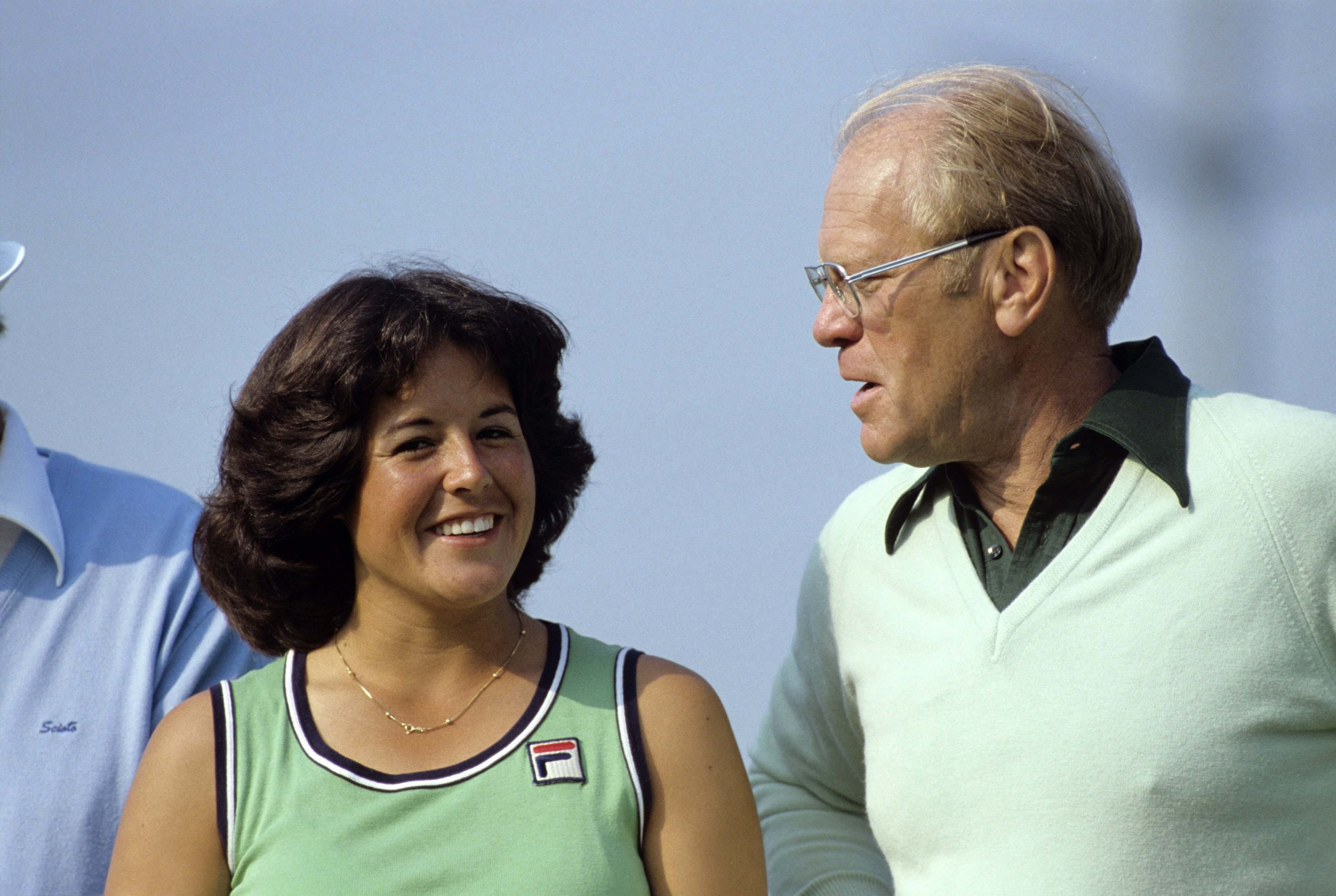 Nancy Lopez and Gerald R. Ford