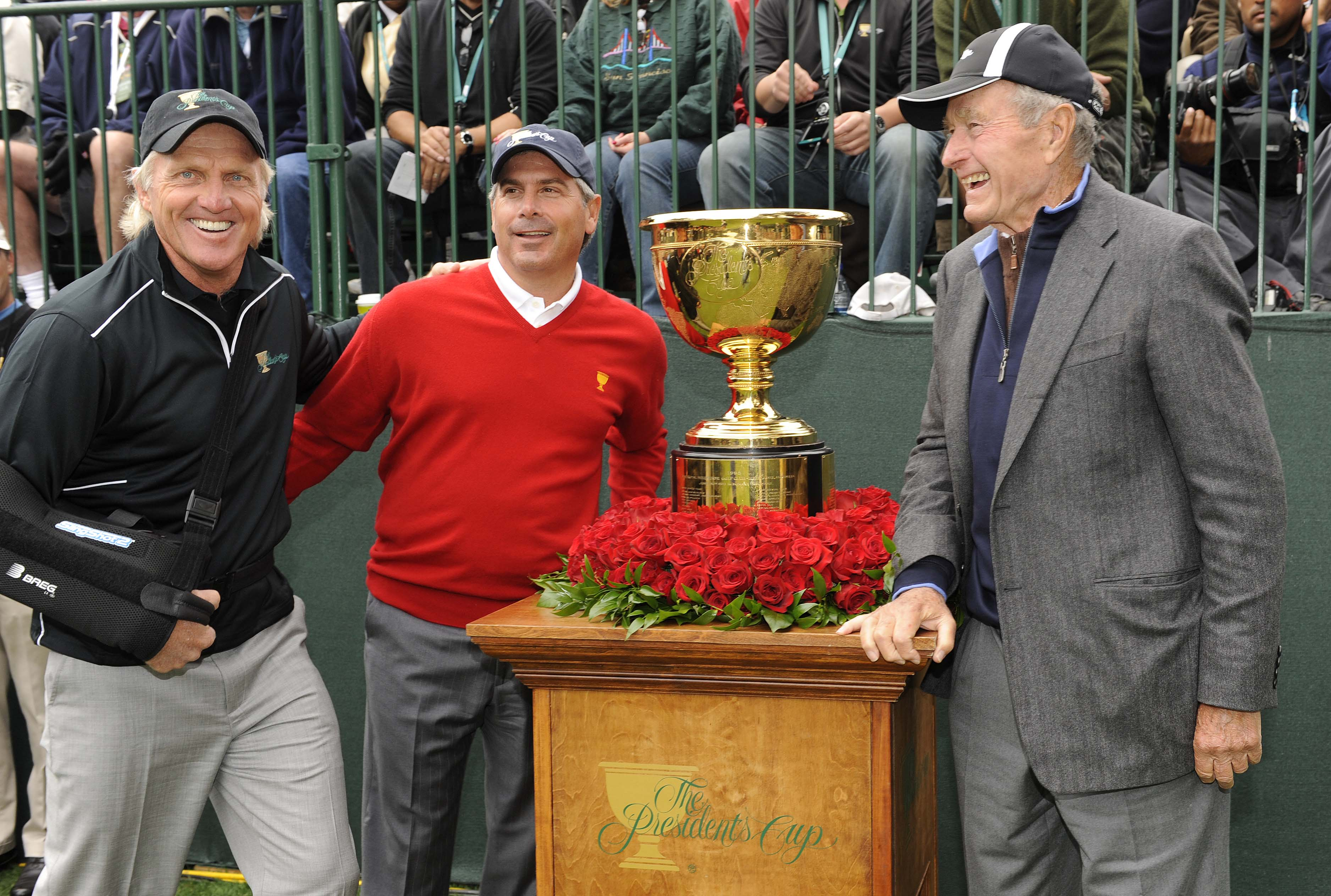 Greg Norman, Fred Couples and George H.W. Bush