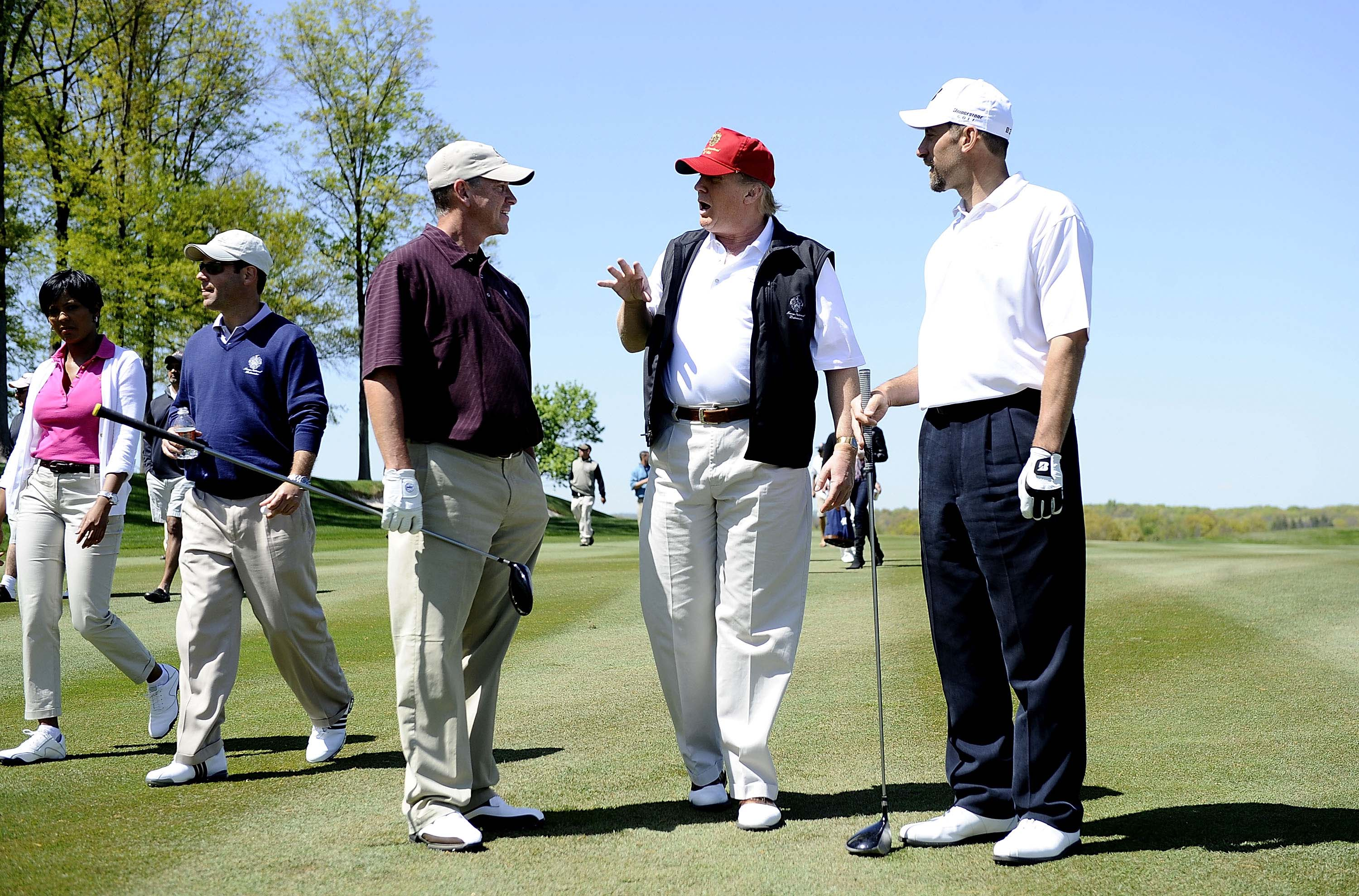 Tom Glavine, John Smoltz and Donald J. Trump