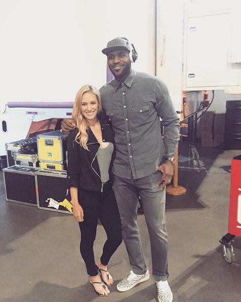 Paige Spiranac and LeBron James