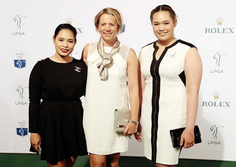 Moriya Jutanugarn, Annika Sorenstam and Ariya Jutanugarn
