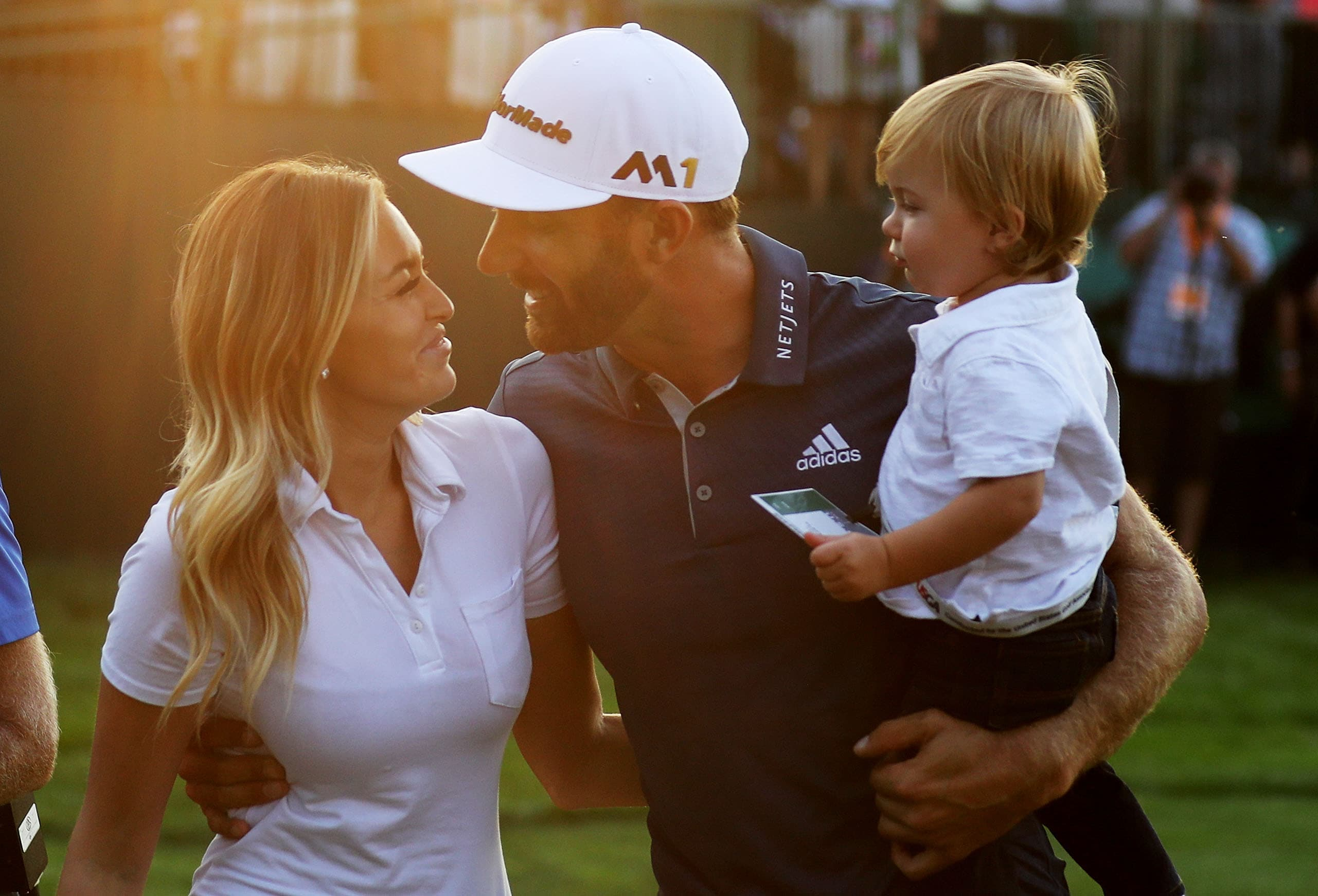 Paulina Gretzky, Dustin Johnson and Tatum Johnson