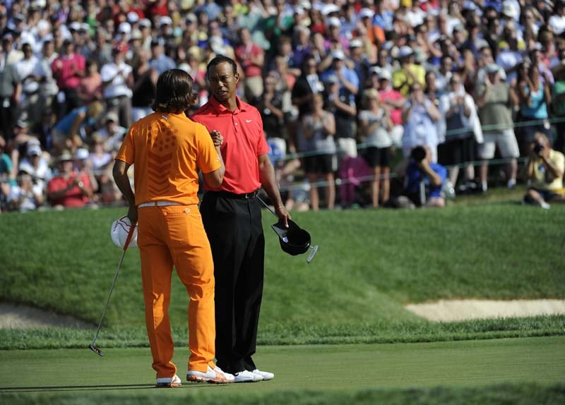 Tiger Woods and Rickie Fowler