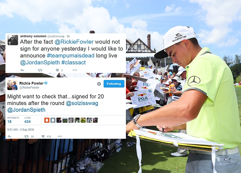 Rickie gives 'em the heater