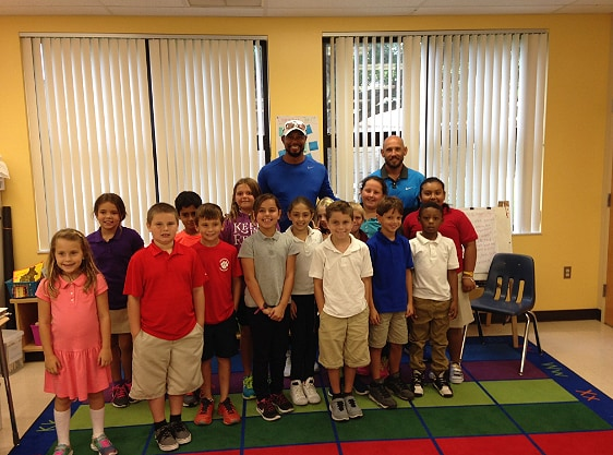 Tiger attends career day
