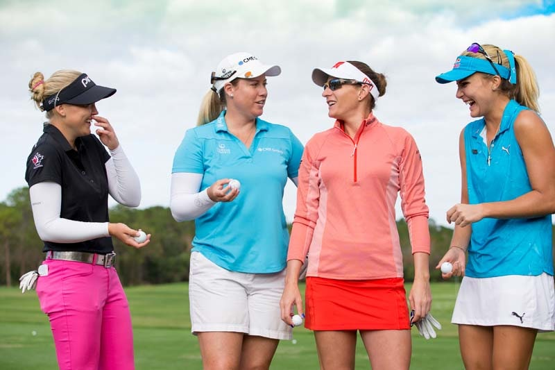 Brooke Henderson, Brittany Lincicome, Brittany Lang and Lexi Thompson