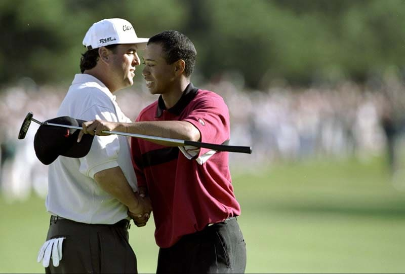 Billy Ray Brown and Tiger Woods