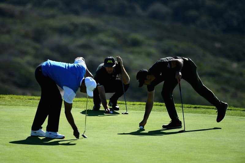 Tiger Woods, Dustin Johnson and Jason Day