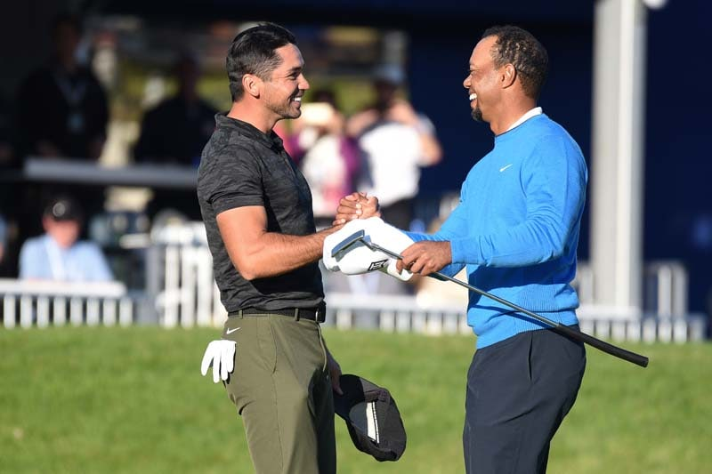 Tiger Woods and Jason Day