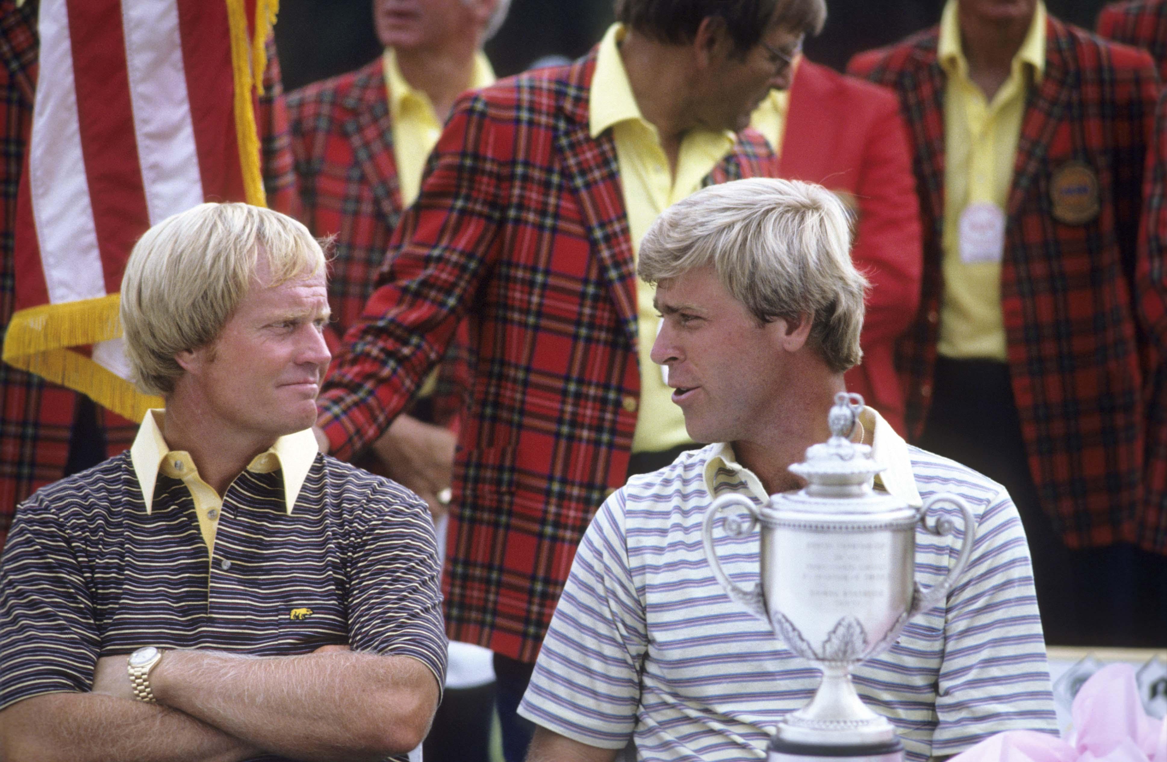 With Hal Sutton, 1983 PGA