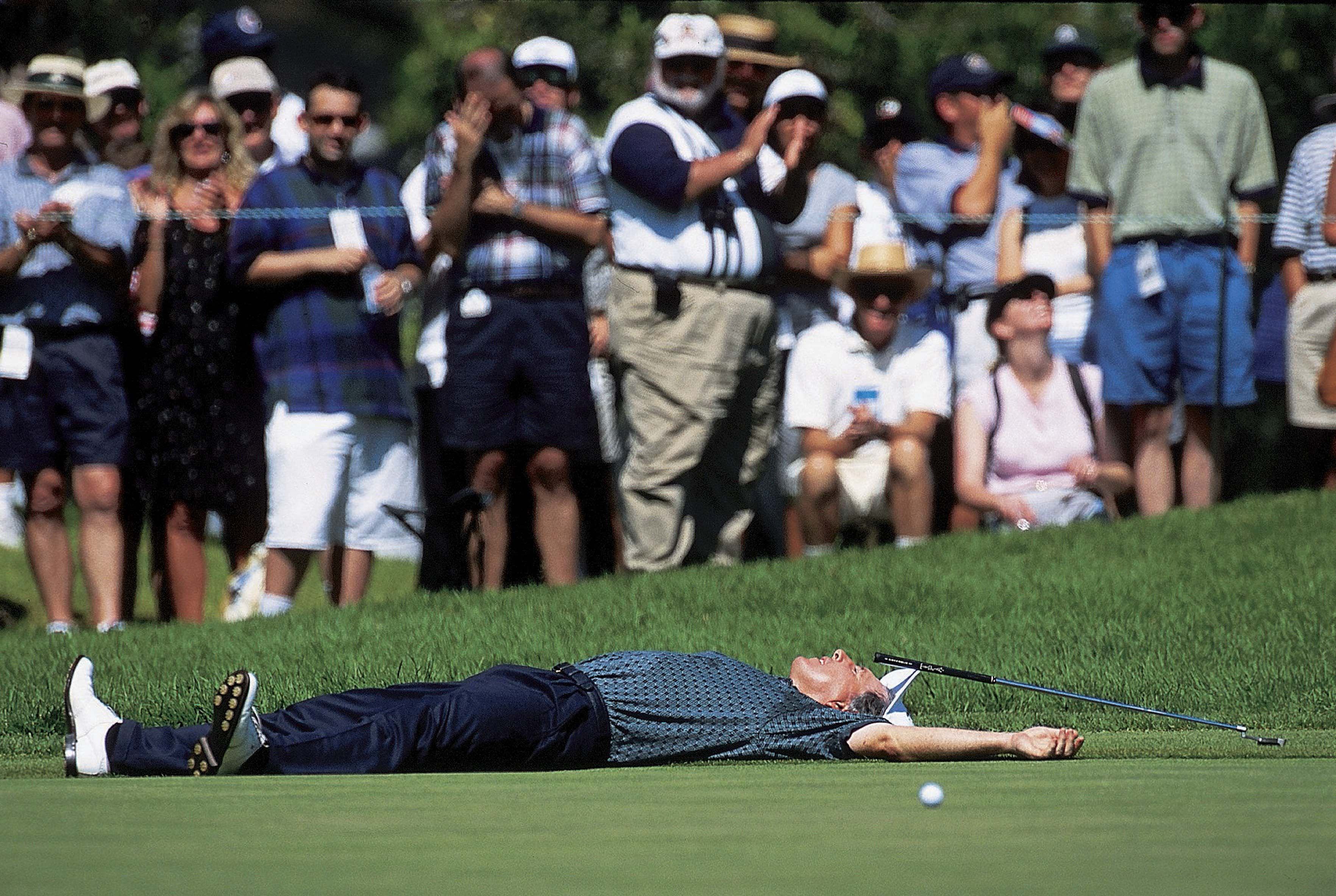 ... even though he couldn't believe this putt didn't go in