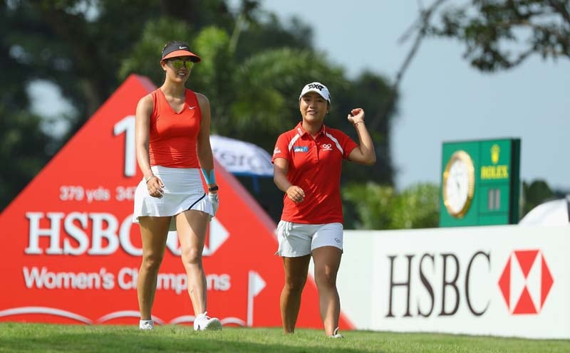 Lydia Ko and Michelle Wie