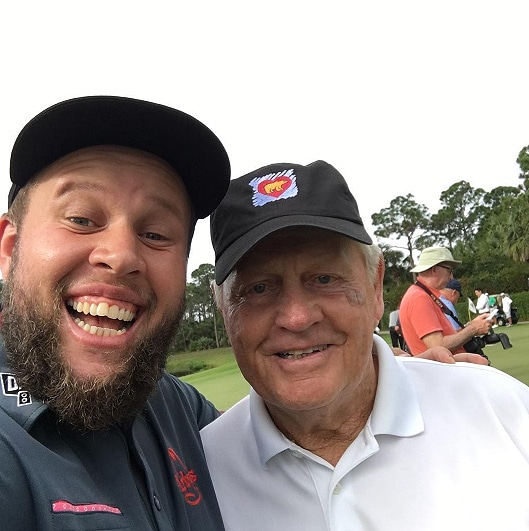 Andrew 'Beef' Johnston and Jack Nicklaus