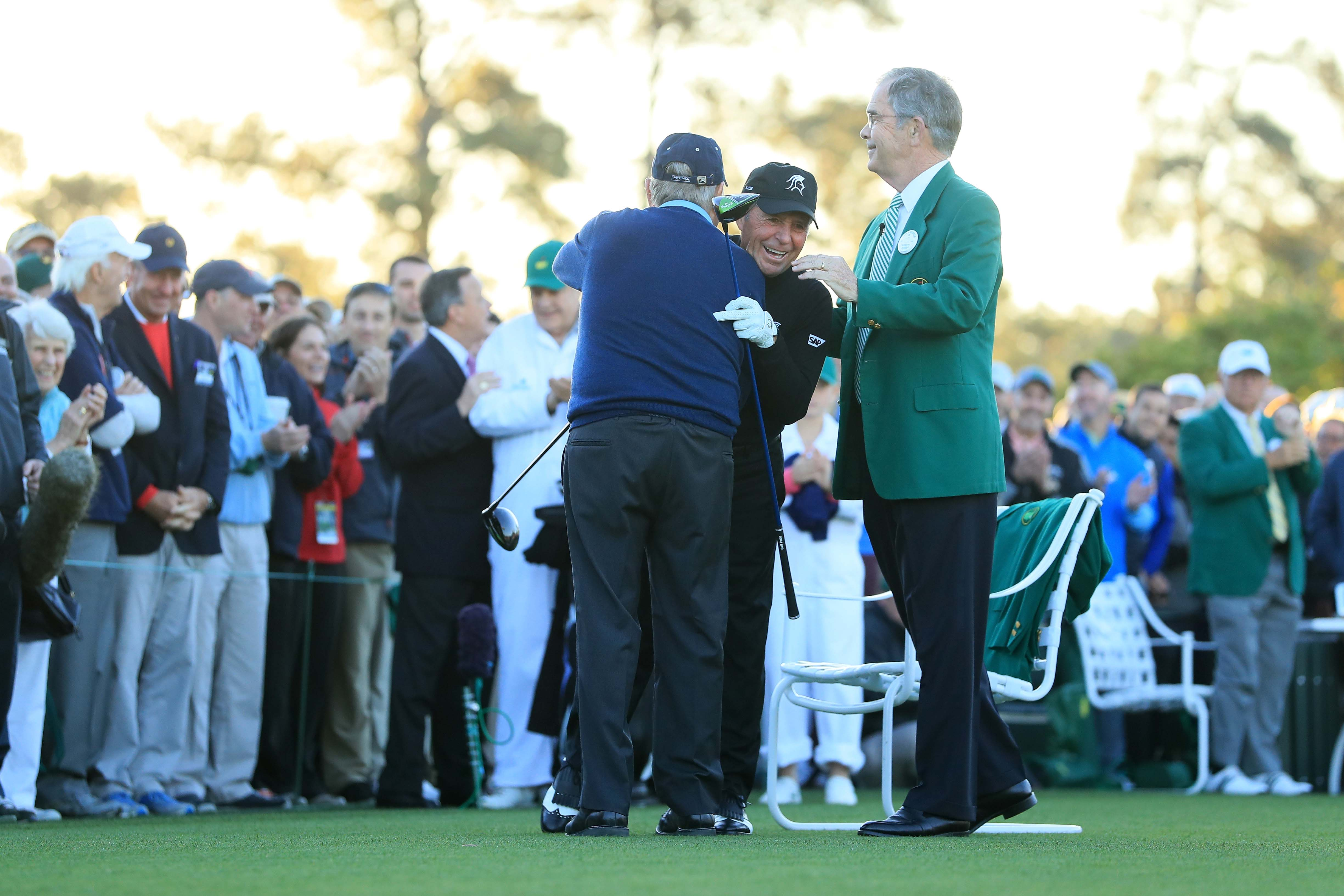 Jack Nicklaus, Gary Player and Billy Payne