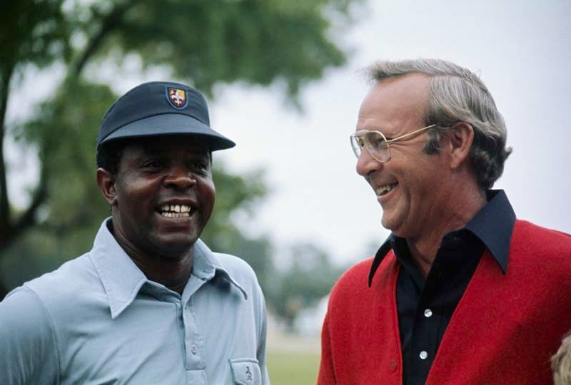 Lee Elder and Arnold Palmer