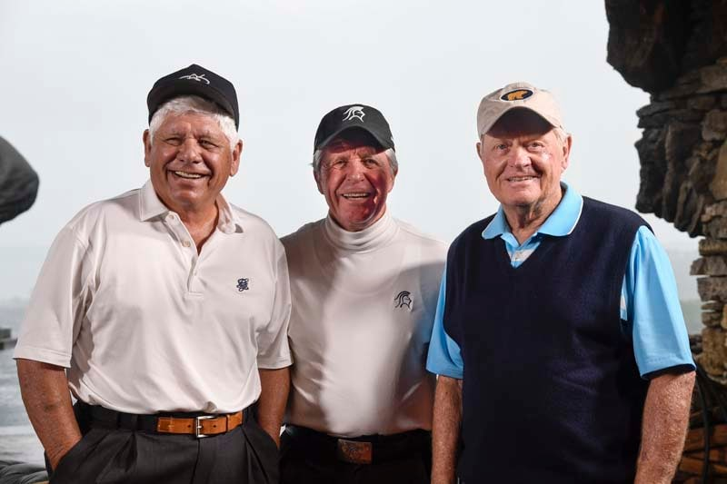 Lee Trevino, Gary Player and Jack Nicklaus