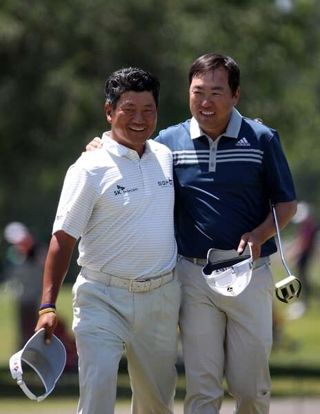 K.J. Choi and Charlie Wi