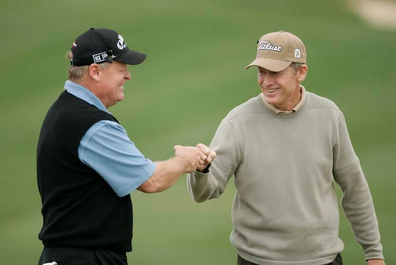 Mike Reid and Johnny Miller
