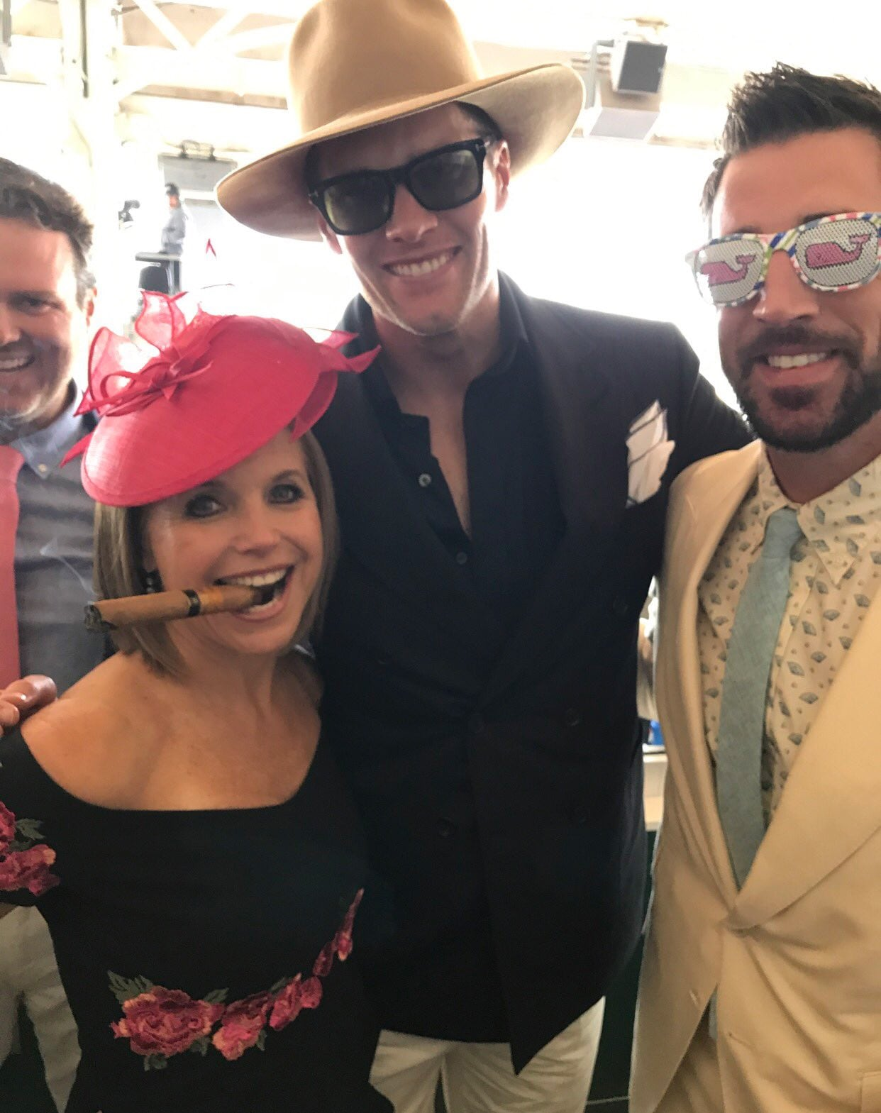 Katie Couric, Tom Brady and Aaron Rodgers