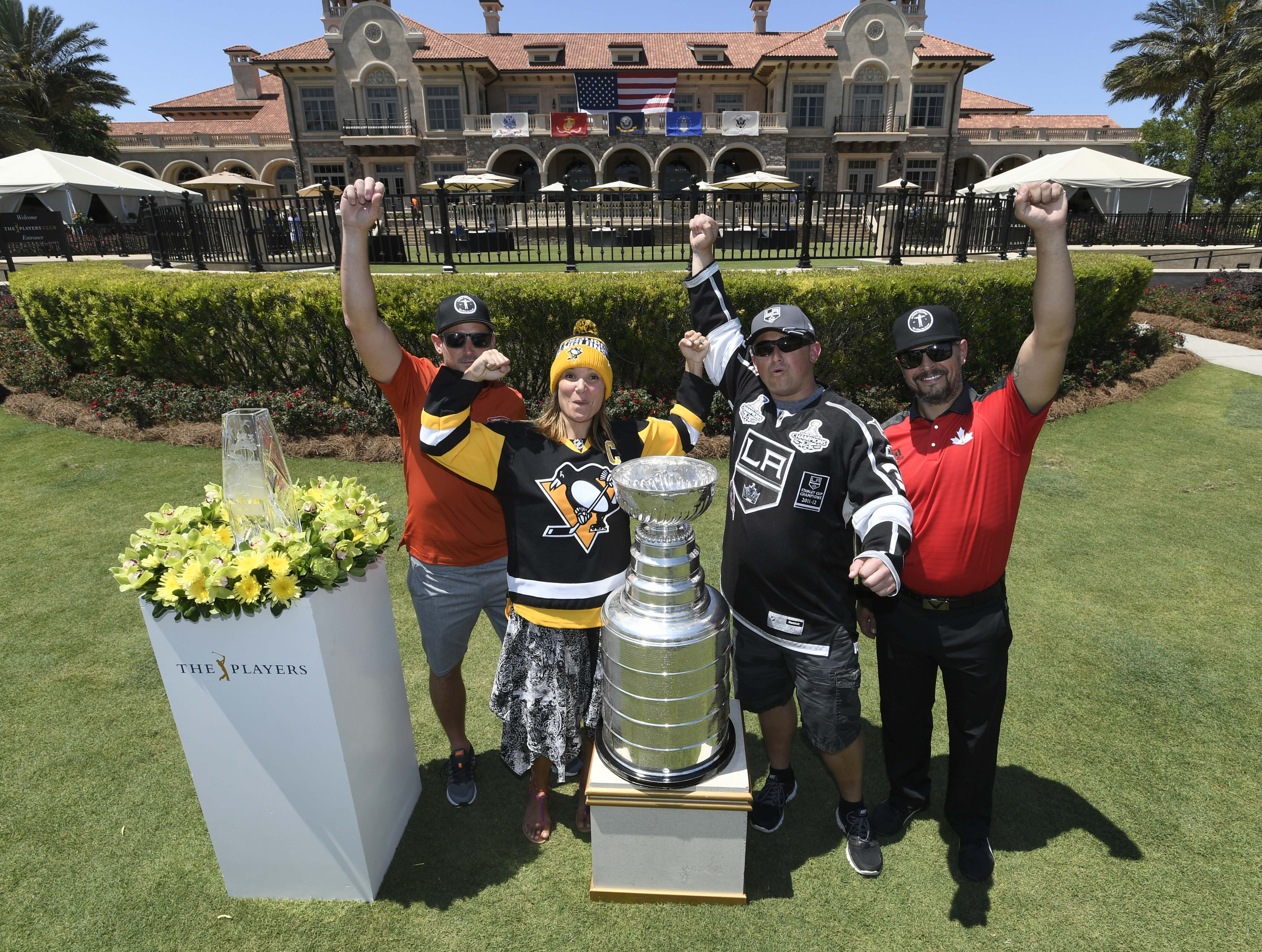 Fans with the Stanley Cup