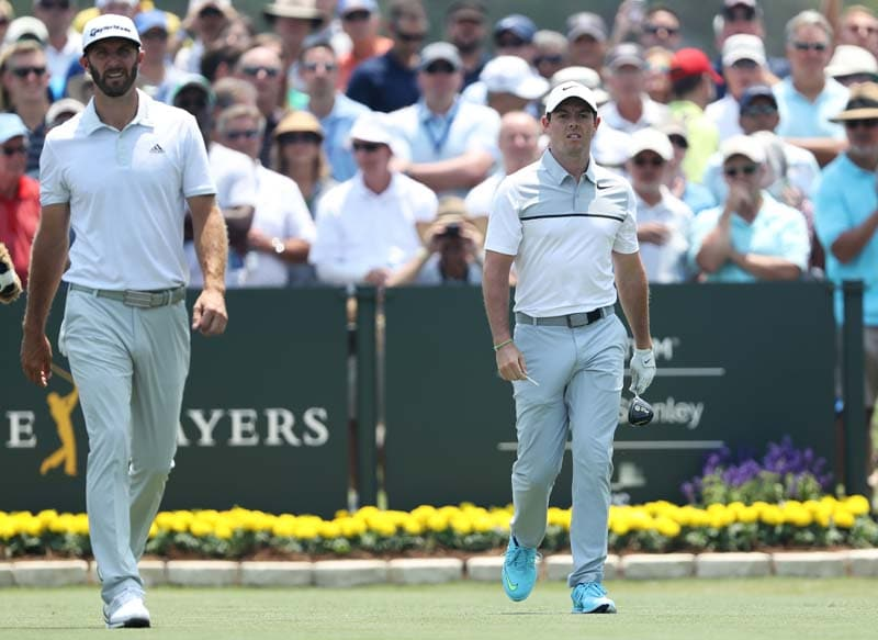 Dustin Johnson and Rory McIlroy