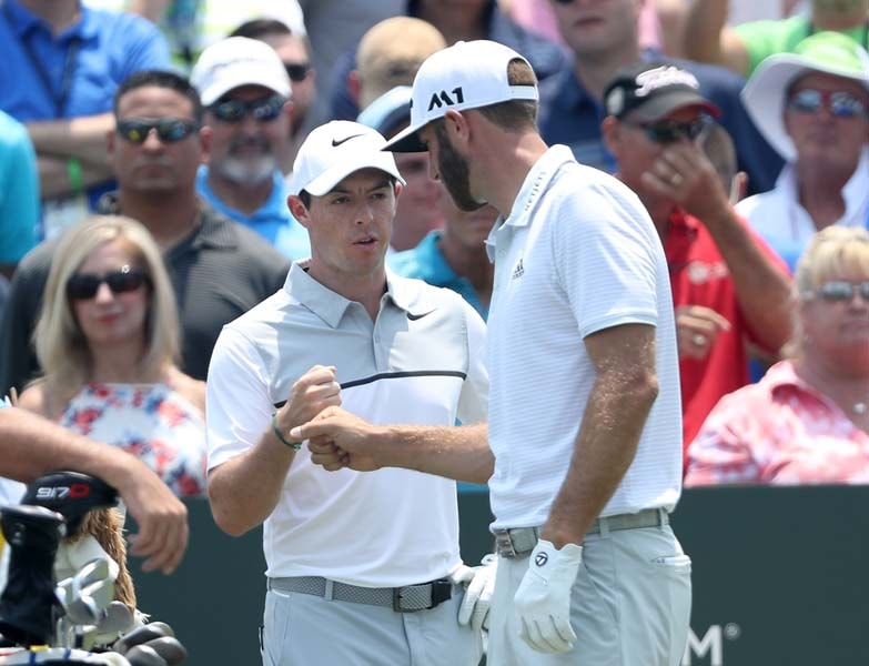 Rory McIroy and Dustin Johnson