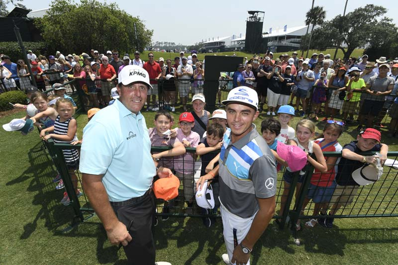Rickie Fowler and Phil Mickelson