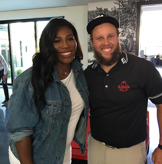 Andrew 'Beef' Johnston and Serena Williams