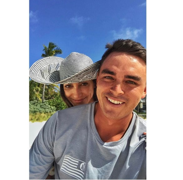 Allison Stokke and Rickie Fowler